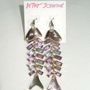 Betsey Johnson GLITTER REEF EARRINGS